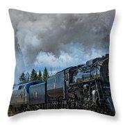 Steam Engine 261 Throw Pillow by Paul Freidlund