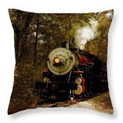 Steam Engine No. 300 Throw Pillow by Robert Frederick