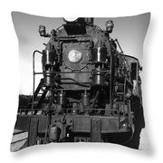 Steam Engine Throw Pillow by Robert Bales