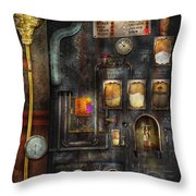 Steampunk - All that for a cup of coffee Throw Pillow by Mike Savad