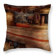 Steampunk - Belts - Old School Is Best Throw Pillow by Mike Savad