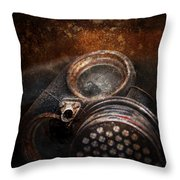Steampunk - Doomsday  Throw Pillow by Mike Savad