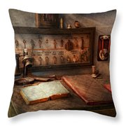 Steampunk - Electrical - My 9 to 5 job  Throw Pillow by Mike Savad