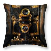 Steampunk - Electrical - The power meter Throw Pillow by Mike Savad