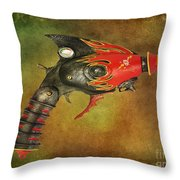 Steampunk - Gun - Electric Raygun Throw Pillow by Paul Ward