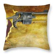 Steampunk - Gun - The Hand Cannon Throw Pillow by Paul Ward