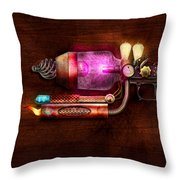 Steampunk - Gun -the Neuralizer Throw Pillow by Mike Savad