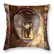 Steampunk - Locksmith - The key to my heart Throw Pillow by Mike Savad