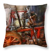 Steampunk - My Transportation Device Throw Pillow by Mike Savad