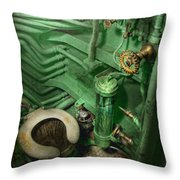Steampunk - Naval - Plumbing - The Head Throw Pillow by Mike Savad