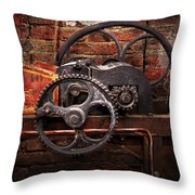 Steampunk - No 10 Throw Pillow by Mike Savad