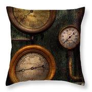 Steampunk - Plumbing - Gauging Success Throw Pillow by Mike Savad
