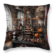 Steampunk - Room - Steampunk Studio Throw Pillow by Mike Savad