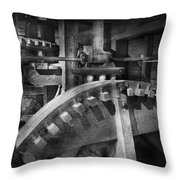Steampunk - Runs Like Clockwork Throw Pillow by Mike Savad