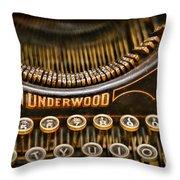 Steampunk - Typewriter - Underwood Throw Pillow by Paul Ward