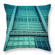 Steel And Glass Throw Pillow by Edward Fielding
