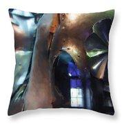 Steel Knight Throw Pillow by Ayse Deniz