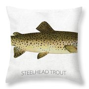 Steelhead Trout Throw Pillow by Aged Pixel