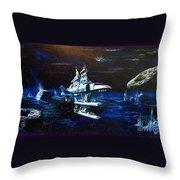 Stellar Cruiser Throw Pillow by Murphy Elliott