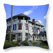 Stetson Mansion Throw Pillow by Laurie Perry