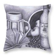 Still Life Drawing Throw Pillow by Kamil Swiatek