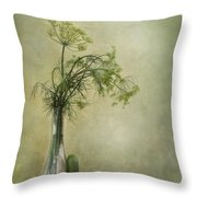 Still Life With Dill And A Cucumber Throw Pillow by Priska Wettstein