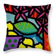 Still Life With Fish Throw Pillow by John  Nolan