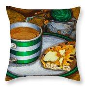 Still Life With Green Touring Bike Throw Pillow by Mark Howard Jones