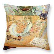 Still Life With Onions Throw Pillow by Vincent van Gogh