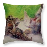 Still Life With Pheasants  Throw Pillow by Pierre Auguste Renoir