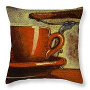 Still Life With Racing Bike Throw Pillow by Mark Howard Jones