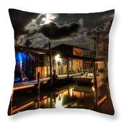 Still Marina Throw Pillow by Michael Thomas