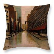 Still Under Construction Fourteen Throw Pillow by Diane Strain