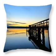 Stillness Throw Pillow by Kelly Nowak