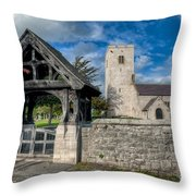 St.Marcellas Entrance Throw Pillow by Adrian Evans