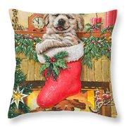 Stocking Stuffer Throw Pillow by Richard De Wolfe