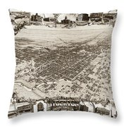 Stockton San Joaquin County California  1895 Throw Pillow by California Views Mr Pat Hathaway Archives