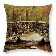 Stone Bridge In The Ozarks Throw Pillow by Benjamin Yeager