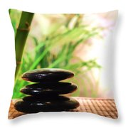 Stone Cairn Throw Pillow by Olivier Le Queinec