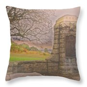 Stone Gate Throw Pillow by Tom Gari Gallery-Three-Photography