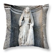 Stone Nun Throw Pillow by Olivier Le Queinec