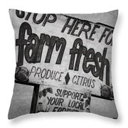 Stop Here Throw Pillow by Joan Carroll