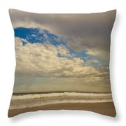 Storm Approaching Throw Pillow by Karol Livote