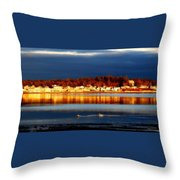Storm At Sunset Throw Pillow by Marysue Ryan