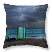 Storm Chairs Throw Pillow by Laura Fasulo