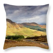 Storm Clouds Over The Glen Throw Pillow by Jane Rix