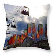 STORM CLOUDS Throw Pillow by Skip Willits
