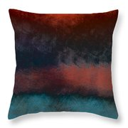 Storm Coming Throw Pillow by Bonnie Bruno