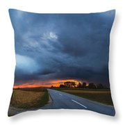 Storm Is Coming Throw Pillow by Davorin Mance