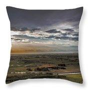 Storm Over Emmett Valley Throw Pillow by Robert Bales